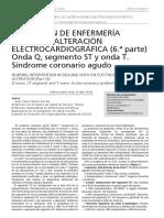 Actuación enfermeria en las alteraciones electrocardiográficas
