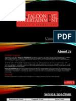 Falcon Eye Entertainment Brochure