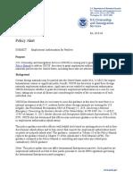 USCIS guidance on work permits