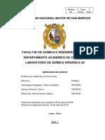 Informe Nº 2 - Química Orgánica II PDF