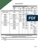 fourth grade math t and l framework