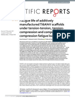 Fatigue life of additively manufactured Ti6Al4V scaffolds under tension-tension, tensioncompression and compressioncompression fatigue load