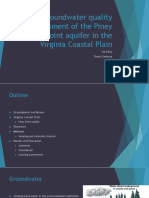 An assessment of groundwater quality of Piney Point Aquifer, Virginia