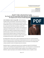 Randal W. Stoller to Head EurOrient Capital, The World's First Investment Bank Solely Dedicated to Mobilize Financing for Development and to Promote Socially Responsible Investing | Ron Nechemia