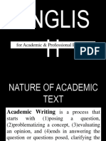 Nature of Academic Text