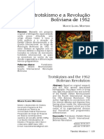 O trotskismo e a Revolução Boliviana de 1952 - Marcio Lauria Monteiro