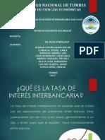 Tasa de interés interbancaria 2001 - 2010