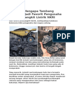 3 Alasan Mengapa Tambang Batubara Jadi Favorit Pengusaha Dan Pembangkit Listrik NKRI