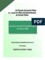 Formulación de Proyecto de Inversión Pública en Turismo en el Marco del Sistema Nacional de Inversión Pública