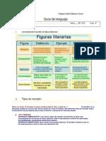 Guía de Lenguaje Tipos de Narrador Figuras Literarias