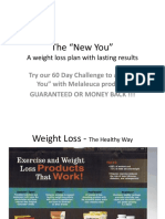 Weight Loss With Melaleuca