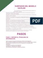 Pasos y Subpasos Del Modelo Gavilan