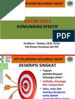 MODUL PELATIHAN KELUARGA SEHAT 2019 (MI 6. Komunikasi Efektif)