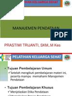 MODUL PELATIHAN KELUARGA SEHAT 2019 (MI 7. Manajemen Pendataan)