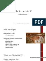 2.4 File Access in C