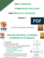 Modulo 1. Lista de Sustancias y Métodos Prohibidos 2019 PDF