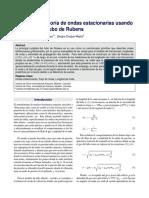 Análisis de la teoría de ondas estacionarias usando el modelo del Tubo de Rubens