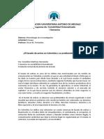 El Lavado de Activos Como Problema en La Sociedad Colombiana
