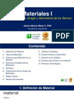 Tema I. Estructura Arreglo y Movimiento de Los Átomos