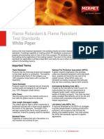 Flame Retardant &Amp; Flame Resistant Test Standards