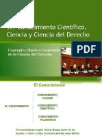 1.1 Conocimiento Cientifico Ciencia y Ciencia Jurídica