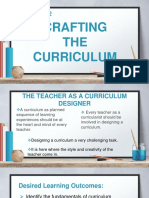 Crafting the Curriculum