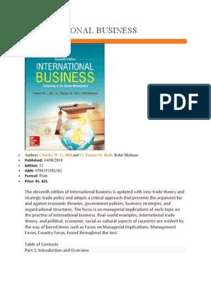 Global Business Titles International Business Globalization