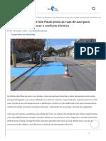 Cidade No Interior de São ArchDaily Brasil - Ruas de Azul Para Reduzir Calor e Melhorar o Conforto Térmico