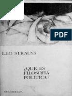 Que es la filosofia politica - Leo Strauss.pdf