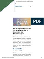 PCM Descomplicado - Planejamento e Controle de Manutenção