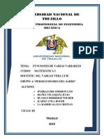 Informe de f. Varias Variables Segundo Avance