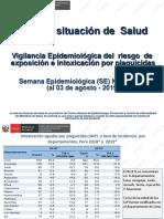 Vigilancia Epidemiológica del riesgo de exposición e intoxicación por plaguicidas