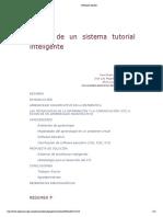 Diseño de un sistema tutorial inteligente