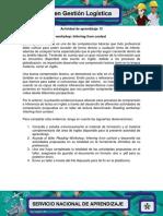 Actividad de Aprendizaje 13_Evidencia 4 Reading Workshop Inferring From Context