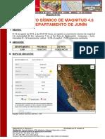 Reporte Complementario Nº 1815 19ago2019 Movimiento Sísmico de Magnitud 4.6 en El Departamento de Junín 01