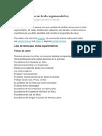 100 Temas Para Un Texto Argumentativo