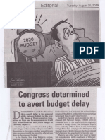 Manila Bulletin, Aug. 20, 2019, Congress determined to avert budget delay.pdf