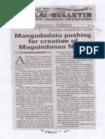 Manila Bulletin, Aug. 20, 2019, Mangundadatu pushing for creation of Maguindanao North.pdf