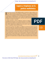 Justicia Multietnica Logros y Avances