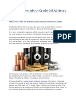 Tips to Know About Crude Oil Advisory