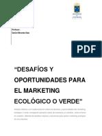 """""""Desafíos y oportunidades para el marketing ecológico o verde"""""""