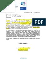 1. Citatorio Para Comparecencia. Protocolo