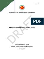 National Disaster Management Policy Bangladesh