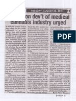 Peoples Tonight, Aug. 20, 2019, Agency on dev't of medical cannabis industry urged.pdf