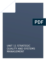 Strategic Quality and Systems Management Unit 11 Done