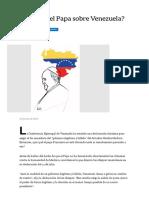 ¿Por qué calla el Papa sobre Venezuela_ - LA NACION