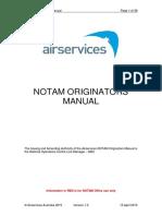 NOTAM Originators Manual V1.2