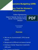 Esther Eghobamien Economic Policy 121106 GRB Presentation