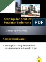 Start Up Dan Shut Down Peralatan Sederhana