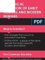 Biological Evolution of Early Humans and Modern Humans
